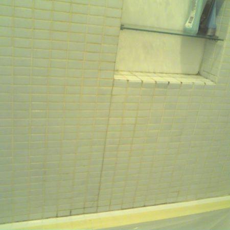 Mosaic Shower Grout Repair