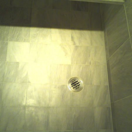 Shower Floor Build Up Removal