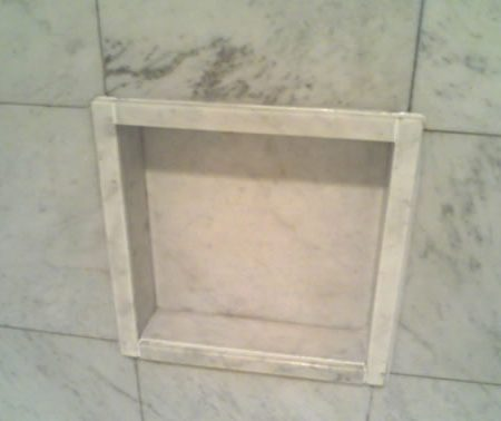Cleaned Shower Builtin Niche/Soap Shelf