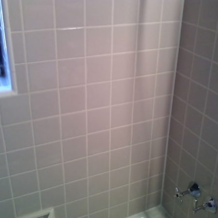 Re-Grouted and Re-Caulked Ceramic Shower