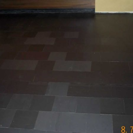 Tiled Slate Stone Floor after Stripping and Grinding