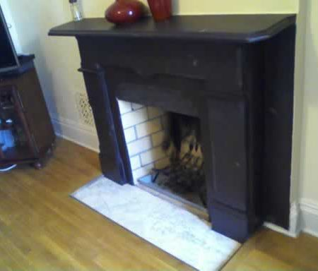 Slate Stone Fireplace after Tinting & Restoration