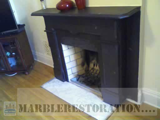 Slate Stone Fireplace After Restoration