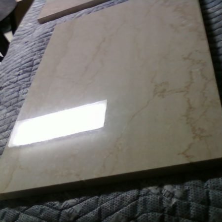 Polished Rectangular Piece. Botticino Marble