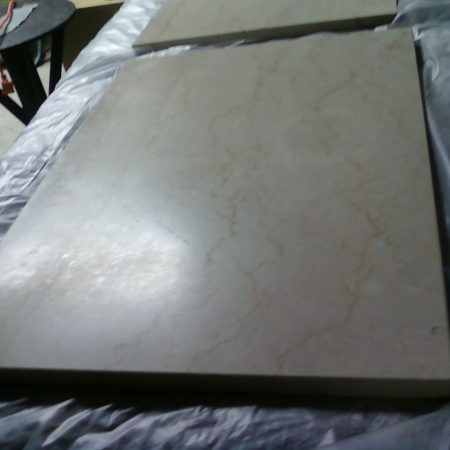 Tarnished & Dull Rectangular Marble