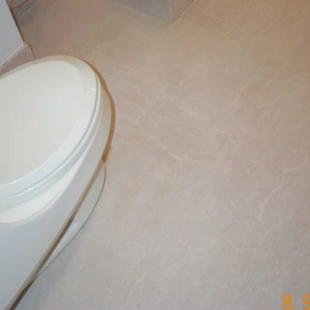 Honed Botticino Tiles in Bathroom