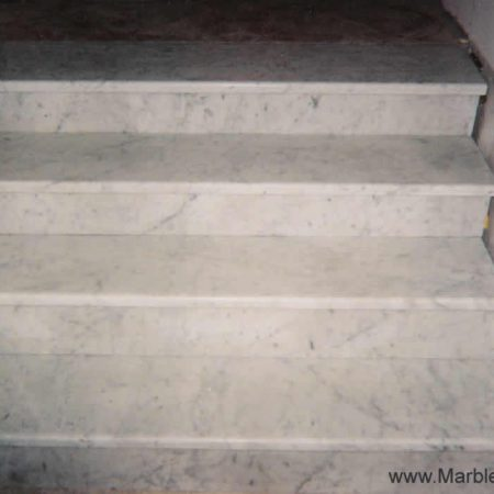 Newly Installed White Carrara Steps