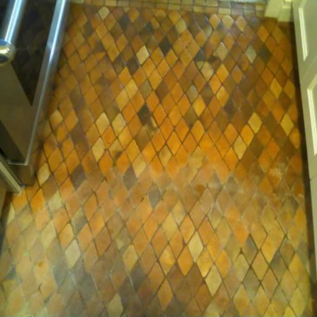Color Enhanced on Terracotta Mosaic Tiles