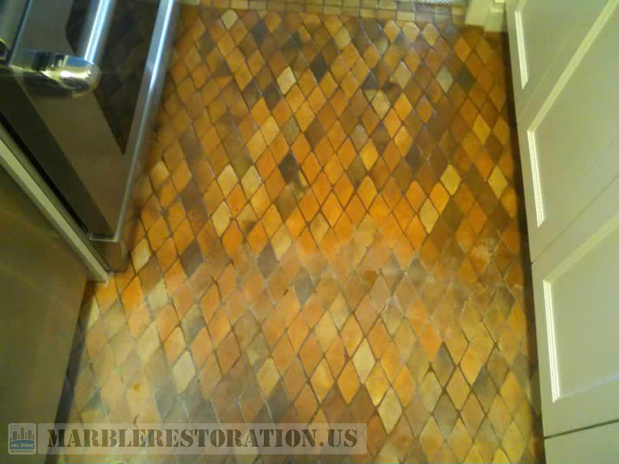 Color Enhanced On Terracotta Mosaic Tiles