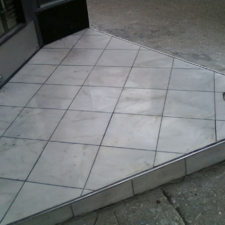 The Fresh Store Tiled Step After Repair