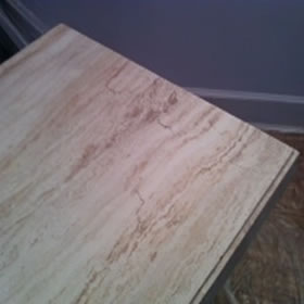 Fixed Corner and Edges. Travertine Dining Table