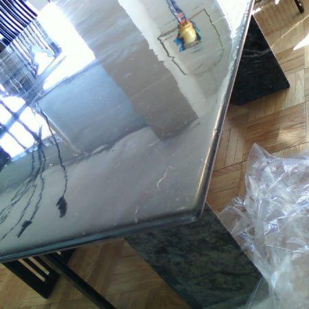 Restored Transparent Polyester on Broken Corner