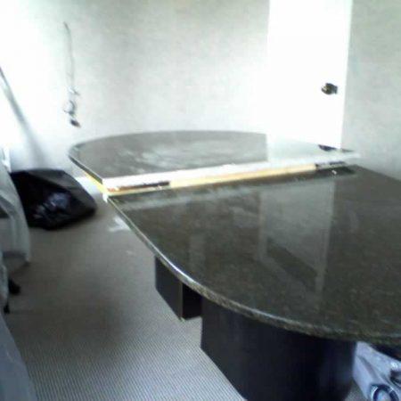 Conference Ellipse Table Seam. Made from Ubatuba Granite