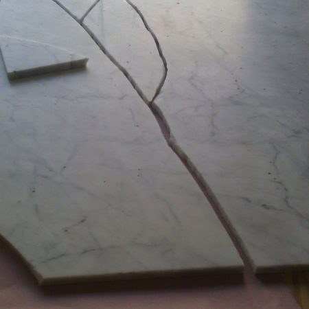 Broken Rectangular Marble Table Worktop