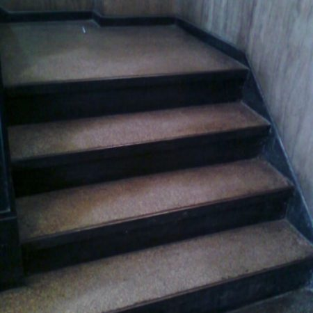 Grime Terrazzo Steps before Cleaning and Polishing