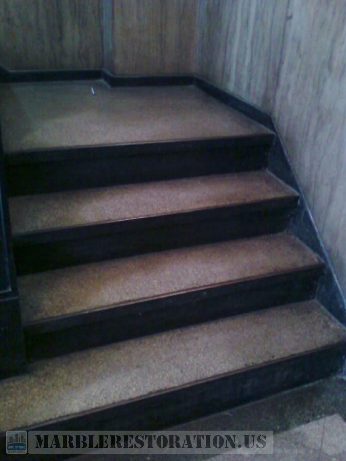 how to clean marble steps