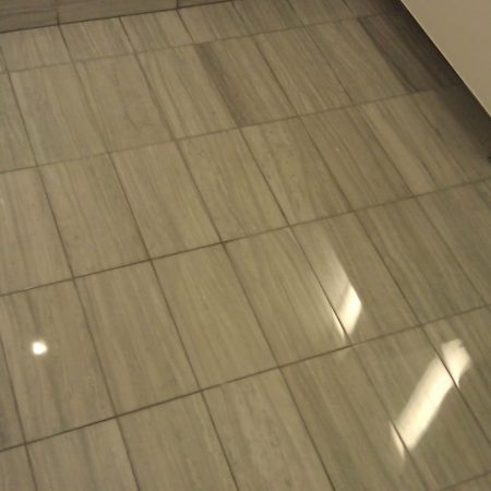 Gray Marble Tiles on Floor Restoration
