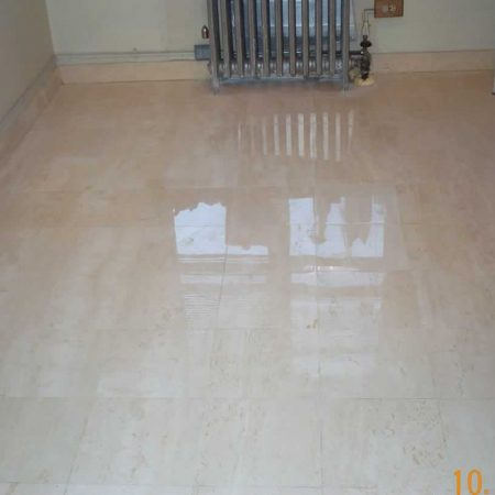 Restored Beige Travertine Marble Floor