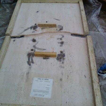 Ruined Italian Travertine Table Split in Half