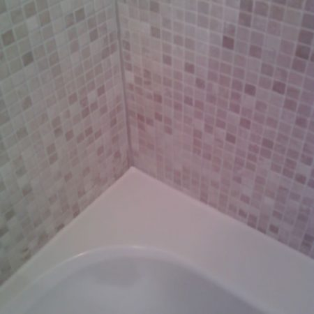 Re Caulked and Cleaned Acrylic Tub