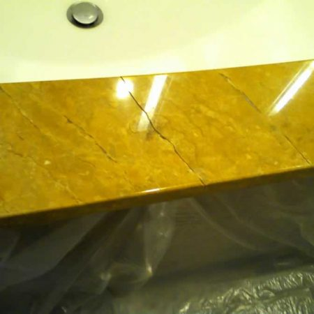 Bathroom Counter Front Crack Repair