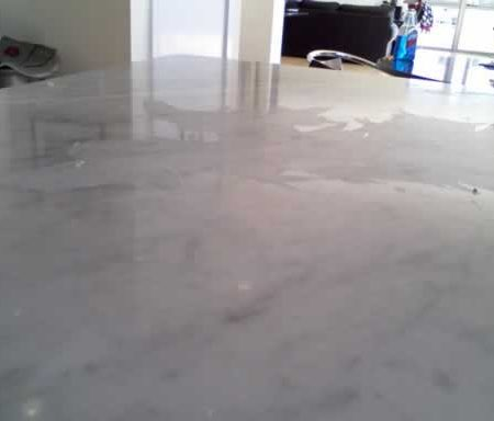 Wax Coat Flaking off on Countertop. Peeling Off