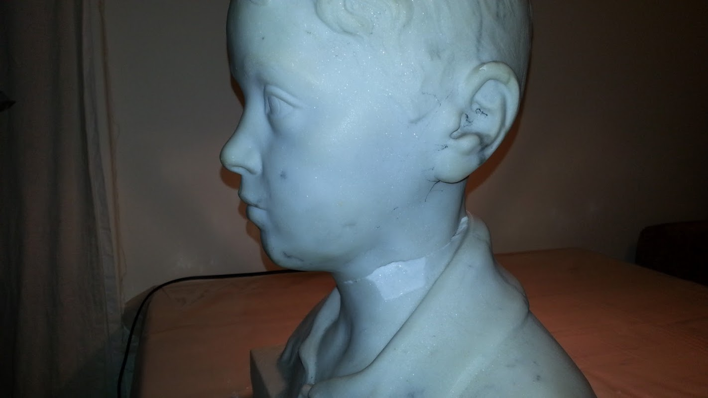 Broken Marble Bust Neck