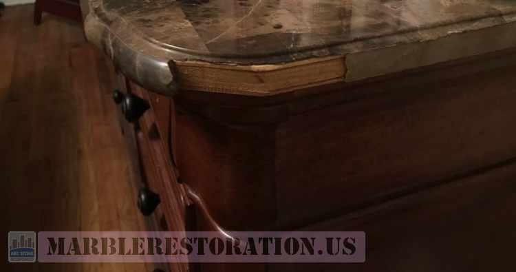 Veneer Marble on Wood