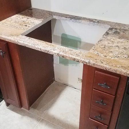 Cook top Cutout Hole in Granite