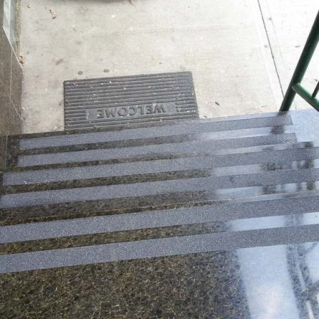 Anti Slip Tape Installation On Granite Steps