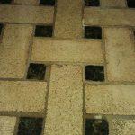 Basket Weave Floor Mosaic Installed