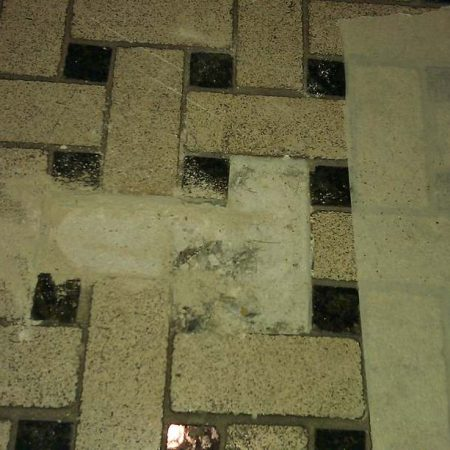 Basket Weave Crumbling on Mosaic Tiles Removal