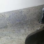 Beige Granite Backsplash Seamed