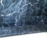Black Marble Tubtop Opaque Cloudy Spots