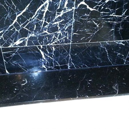 Nero Marquina Marble Water Spots on Tub Top Removed