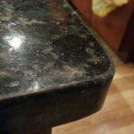 Black Pearl Granite Counter Chip On Edge Repair