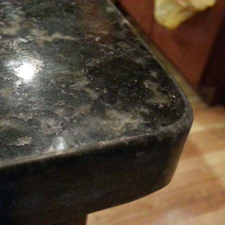 UbaTuba Granite Counter Chip after Removal