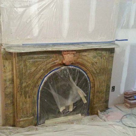 Brooklyn Fireplace before Cleaning and Polishing