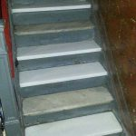 Brooklyn Building Crystal White Marble Steps Intallation