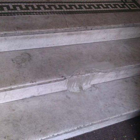 Breakage on Wide Step in Foyer. Midwood NY