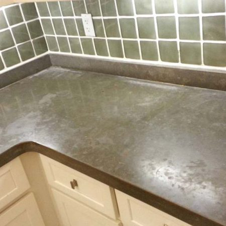 Brown Limestone Countertop Dingy Rings & Dull Blots