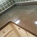Brown Limestone Shine Finish On Surface