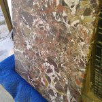 Brown White Whole Marble Table