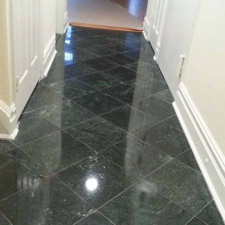 Serpentine Marble Tiled Entryway / Corridor after Refinishing
