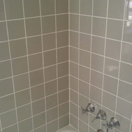 Ceramic Tiles on Wall after Regrouting & Recaulking