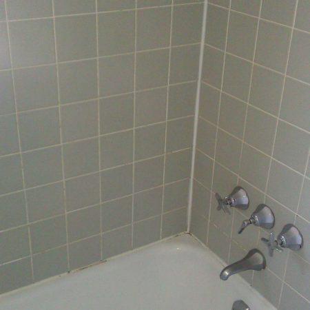 Ceramic Walls above Bathtub before Regrouting & Recaulking