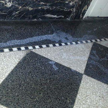 Chemical Burn On Terrazzo Lobby Floor
