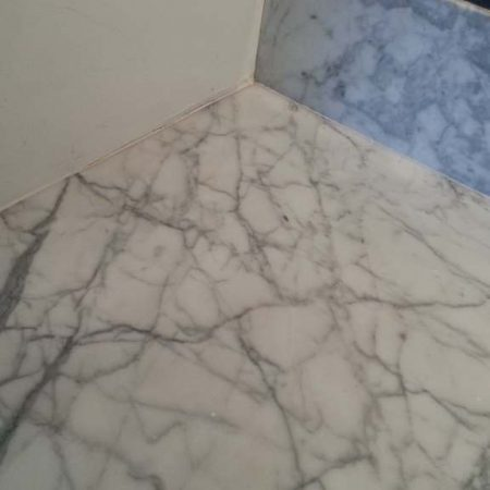 Coffee Stains on White Carrara after Removal