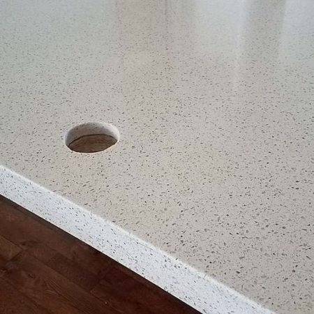 Countertop Hole Drilled for Faucet