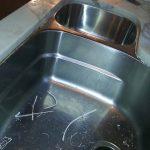 Double Sink Old Caulk Cut